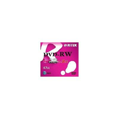 RITEK DVD-RW データ用 2倍速 スリムケース入り D-RW2X10PB(10枚入)