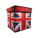 ウィキャン WeCan チェア 収納BOX ボックスなイス 国旗柄 イギリス 31×31×31cm WJ-891