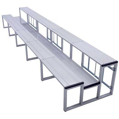 三和体育 SANWATAIKU 観覧席アルミ製 折タタミ式 2段5連セット S-7010