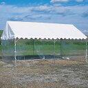 三和体育 SANWATAIKU ささっとテント用透明三方幕 3.6m×7.2m用 S-0549