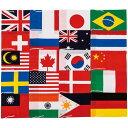 三和体育 SANWATAIKU テトロン製 万国旗 20ヶ国入 25×37.5cm S-0592