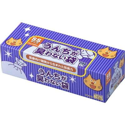 うんちが臭わない袋BOS(ボス) ネコ用 箱型 SSサイズ(200枚入)