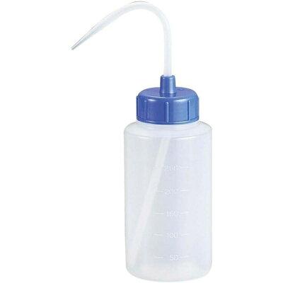 カラーキャップ広口洗浄瓶 500ml ライトブルー 927-22-22-67