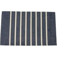 トシシミズ シェニール織 ヴィンテージボーダーラグマットPS800 200×200cm TOS サイズ:200×200 カラー:ネイビー