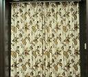 防炎 ドレープカーテン ゴールド 100×135cm 628793BO