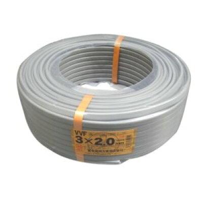 富士電線 vvfケーブル 灰色  芯