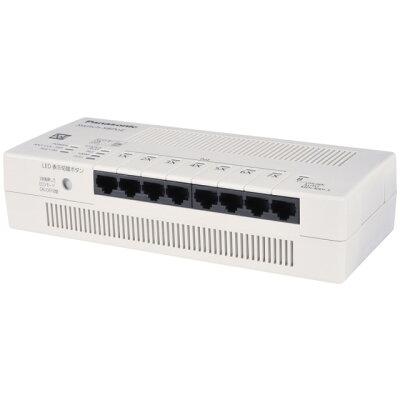 Panasonic ESネットワークス 8ポート PoE給電スイッチングハブ  PN210899