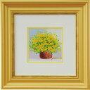手描き油絵 黄色のブーケ N15-407