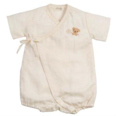 アモローサマンマ天使の糸 手編みモチーフのガーゼグレコ クマ&クローバー(1枚入)