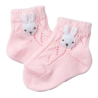 妖精の森 編みモチーフのソックス ウサギ(1足)