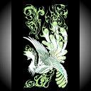 高蒔絵シール K096鳳凰大、緑