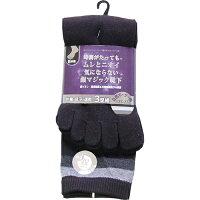 パックスエイジアン 銀イオン抗菌消臭五本指靴下 ツーライン(3足入)