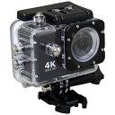 SACマイクロSD対応 防水ハウジングケース付きアクションカメラ AC600 ブラック