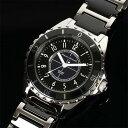 Mauro Jerardi マウロジェラルディ ステンレス&セラミックソーラー メンズ腕時計 ブラック MJ041-1