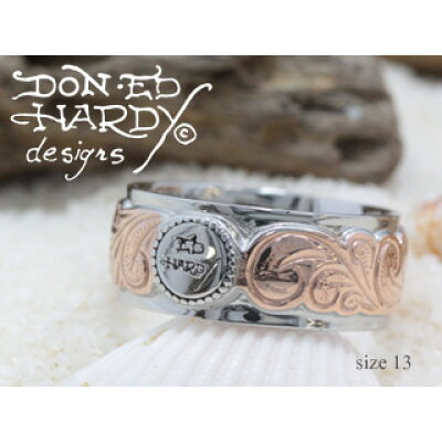 Ed Hardy/エドハーディー ペアリング 単体販売 13号Rose Gold/Steel ステンレスハワイアンジュエリー EdHardy エドハーディー