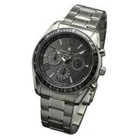 サルバトーレマーラ SALVATORE MARRA 腕時計 ソーラー クロノグラフ SM15116-SSBKSV ブラック メンズ