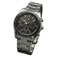 サルバトーレマーラ SALVATORE MARRA 腕時計 ソーラー クロノグラフ SM15116-SSBKPG ブラック メンズ