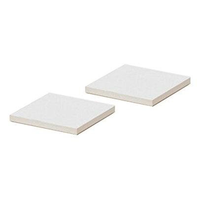 soil 珪藻土 コースター ラージ スクエア 同色 ホワイト D347 WH