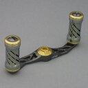 メガテック LIVRE アヴェントゥーラ タイプ2 フルコンプ 左巻き ガンメタプレート×ゴールドノブ/センターナット シマノ用