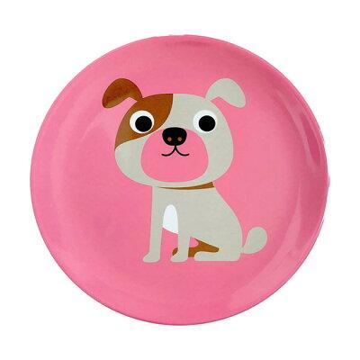 OMM-design Ingela インゲラ メラミンプレート Dog with Pink / ドッグ・ピンク