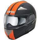WINS CR-1 シルテムヘルメット MODIFY マットブラック&オレンジ L