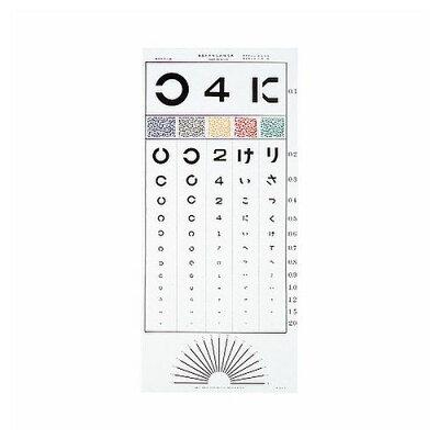 視力検査表 ひらがな 中村氏式 5m用標準