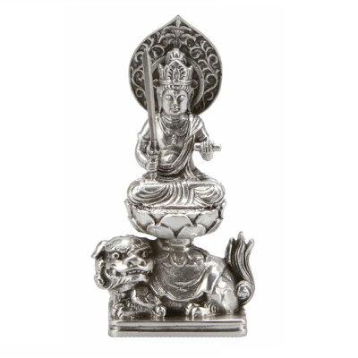 銀製仏像 【文殊】