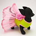 モンキーデイズ ドレス flower blossom dress サイズ XXS pink/green首周り: 13cm 胴囲: 23cm 着丈