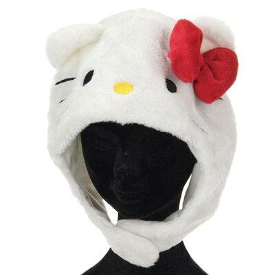 SAZAC サザック 着ぐるみCAP ハローキティ ホワイト ハロウィン 仮装 衣装 コスプレ
