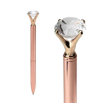 10ct コッパーゴールド ダイアモンドモチーフペン ボールペン 10カラット
