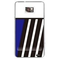 (docomo GALAXY S2 SC-02C専用) プリントケース クリアベース(BLUE & BLACK ブルー design by ROTM)