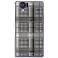 グレンチェック ホワイト×ブラック(クリア)/for AQUOS PHONE 102SH/SoftBank