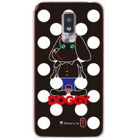 SECOND SKINdocomo Optimus LTE L-01D専用スマートフォンケースDoggy ホワイトドット (クリア) design by MoistureDLGL1D-PCCL-277-Y273
