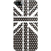 Cross dot union jack ブラック(クリア) for iPhone 5/SoftBank