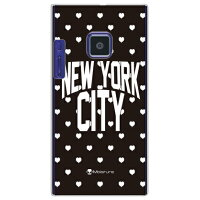 NYC White Heart Dot (クリア) design by Moisture / for P-04D/docomo