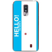 Hello my name is シアン (クリア) / for Optimus LTE L-01D/docomo【SECOND SKIN】