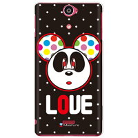 Love Panda ホワイトドット (クリア) design by Moisture / for Xperia AX SO-01E/docomo