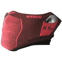 Naroo X5s スリムフィット ブラック/レッド フェイスマスク 日焼け予防 UVカット PM2.5 花粉症対策マスク