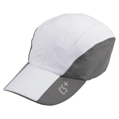 キャプテンスタッグ CAPTAIN STAG ランニングキャップ ホワイト/グレー UM-2515