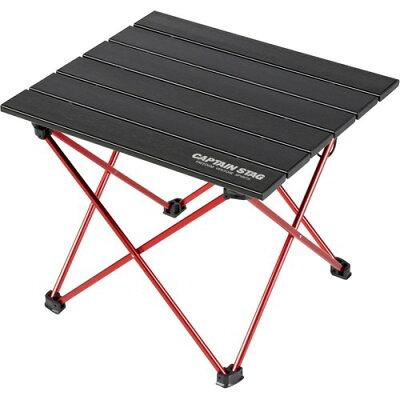 トレッカー ジュラルミンロールテーブル ブラック(1台)