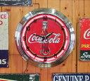 ネオンクロック Coca Cola 30s bottle コカコーラ 30sボトル ネオン時計
