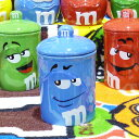 m&m's クッキージャー ブルー 陶器製