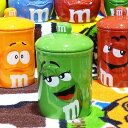 m&m's クッキージャー グリーン 陶器製
