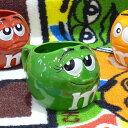 m&m's マグカップ グリーン 陶器製
