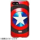 ROOX iPhone 7用 MARVEL Design メタリック ハイブリットケース キャプテンアメリカ ブラック S2BHBDIP7-CBK