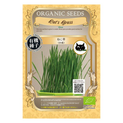 グリーンフィールド ネコ草(小麦)(小袋) 有機種子 A286
