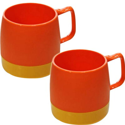 ダイネックス DINEX マグカップ 8 oz. MUG 2-TONE Set ORANGE YELLOW