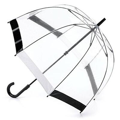FULTON/フルトン バードケージ 1 長傘 手開き グラスファイバー骨 ブラック/ホワイト