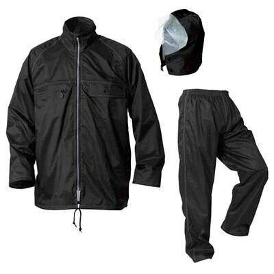 Makku/マック AS-4900 スーパーマック 全3色5サイズ レインスーツ上下 防水 2レイヤー ブラック