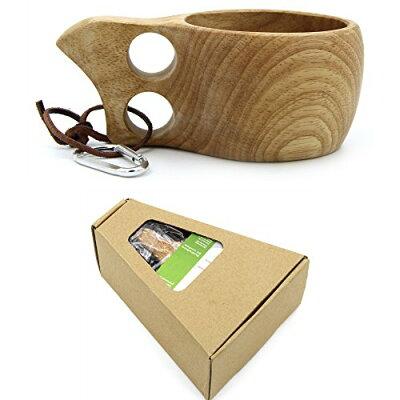 ククサ 北欧 ハンドメイド 木製 コップ カラビナ 豪華